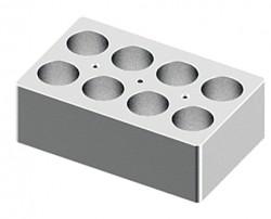 Blokk 8x50ml - átm.:29,8mm, mélység:48mm