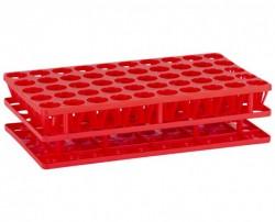Multistand Plus tesztcső tartó PP  5x10 fh. piros