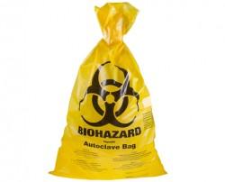 Biohazard autokláv tasak indikátor mezővel sárga 300x500mm 100db